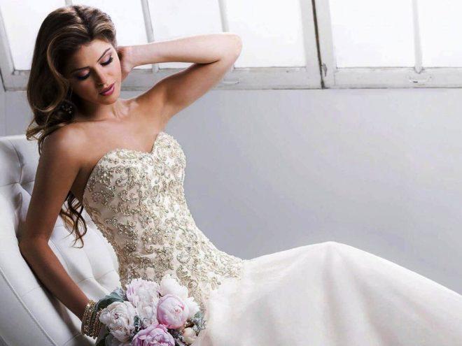 Корсет свадебного платья